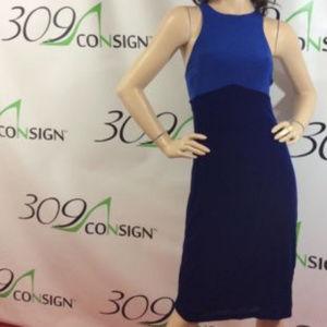 ABS Allen Schwartz blue sheath dress
